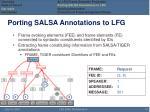porting salsa annotations to lfg