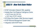 aisle ii new york state police