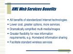 xml web services benefits