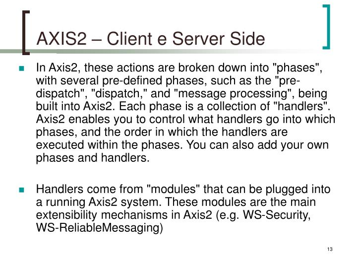 AXIS2 – Client e Server Side