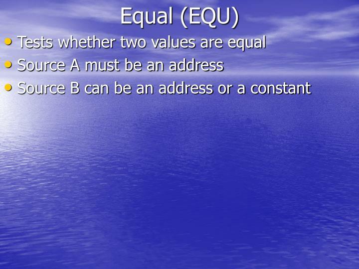 Equal (EQU)