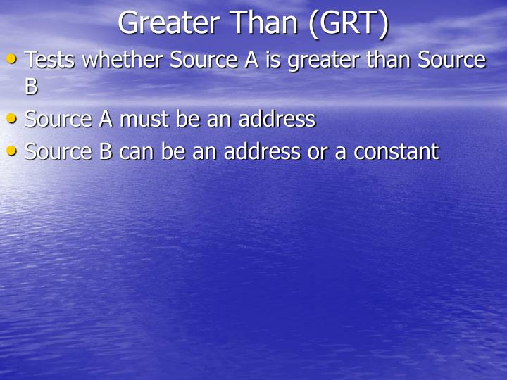 Greater Than (GRT)