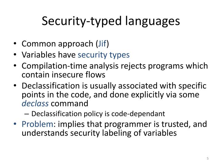 Security-typed languages