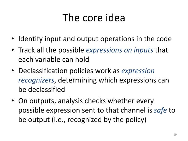 The core idea