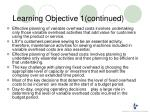 learning objective 1 continued1