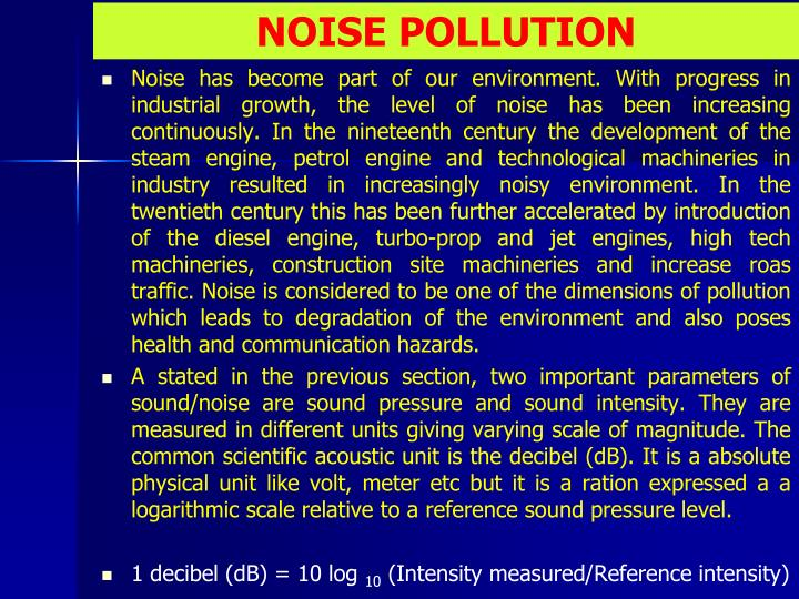 noise pollution n.