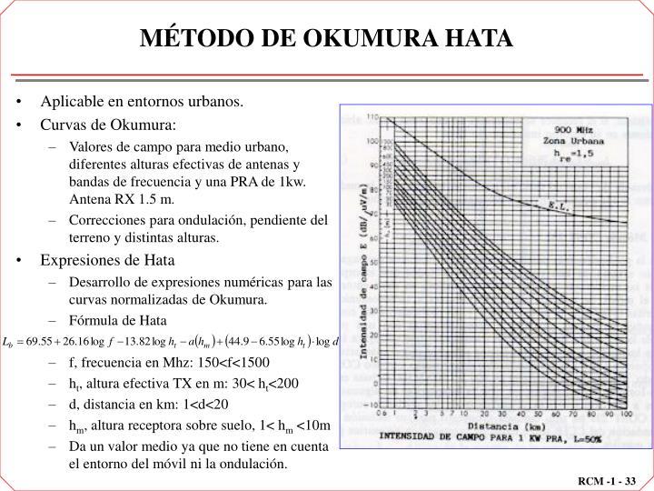 MÉTODO DE OKUMURA HATA