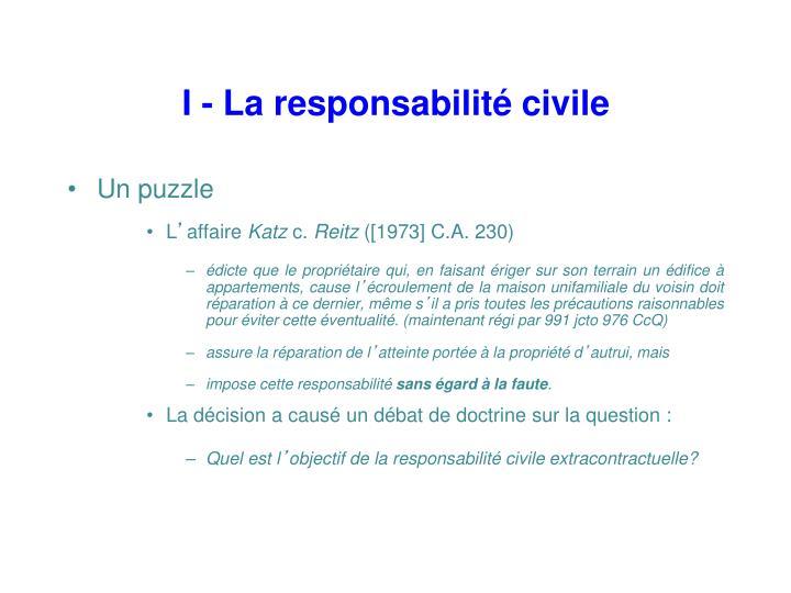 I la responsabilit civile