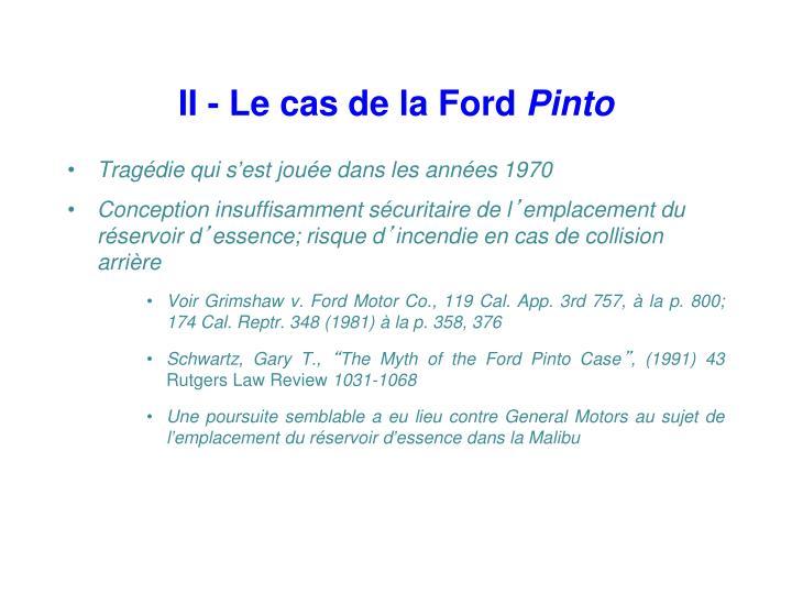II - Le cas de la Ford