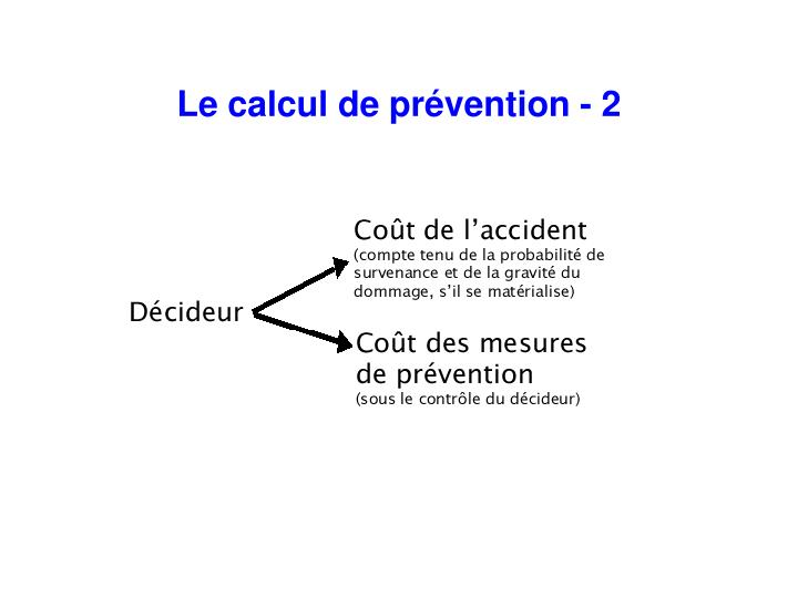 Le calcul de prévention - 2