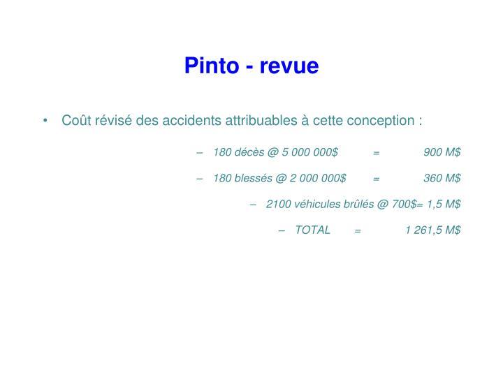 Pinto - revue