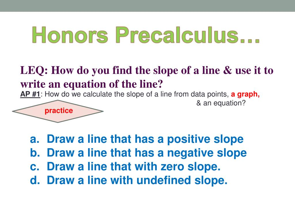 PPT - Honors Precalculus … PowerPoint Presentation - ID:3332224