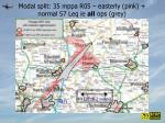 modal split 35 mppa r05 easterly pink normal 57 leq ie all ops grey