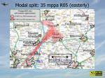 modal split 35 mppa r05 easterly