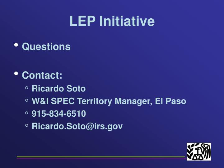 LEP Initiative
