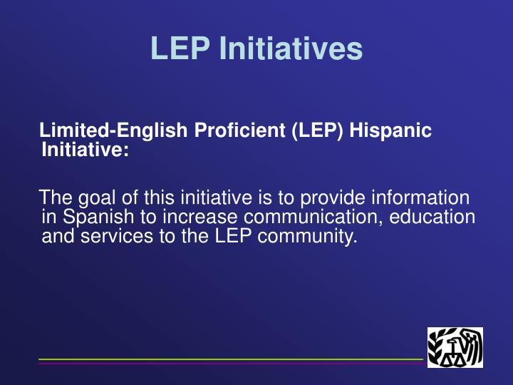 LEP Initiatives