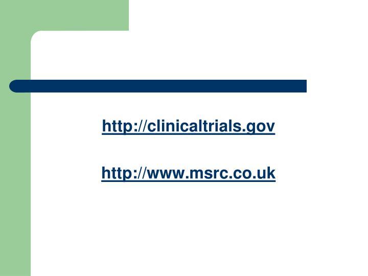 http://clinicaltrials.gov