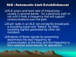 ale automatic link establishment