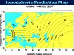 ionospheric prediction map