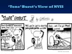 tone burst s view of nvis
