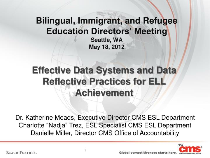 Bilingual immigrant and refugee education directors meeting seattle wa may 18 2012