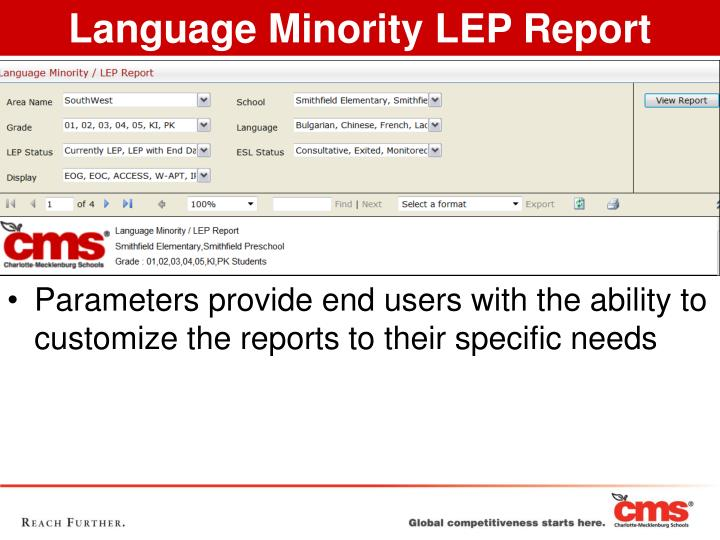 Language Minority LEP Report