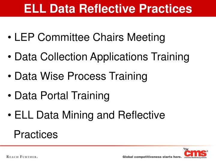 ELL Data Reflective Practices