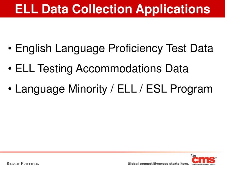 ELL Data Collection Applications