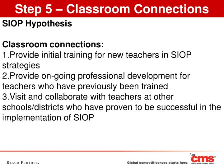 Step 5 – Classroom Connections