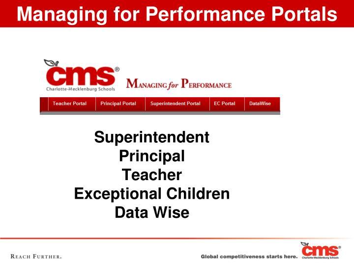 Superintendent principal teacher exceptional children data wise