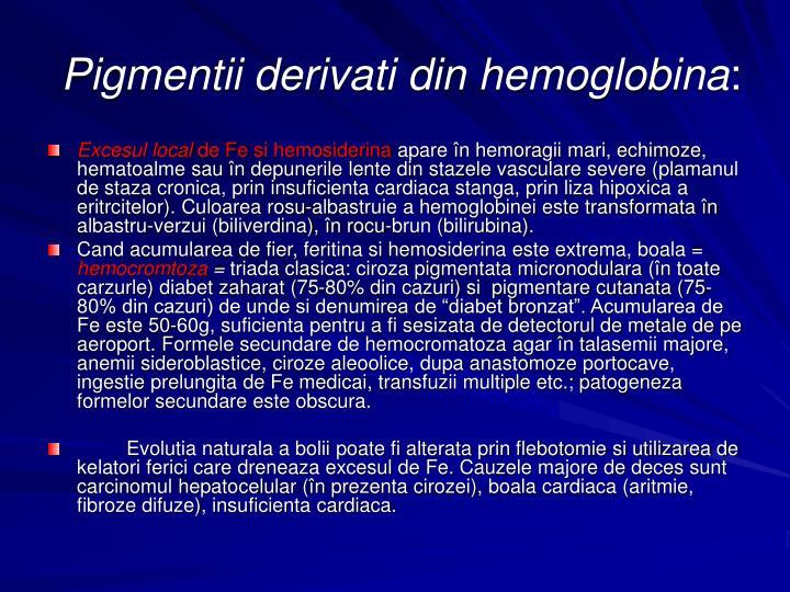 Pigmentii derivati din hemoglobina