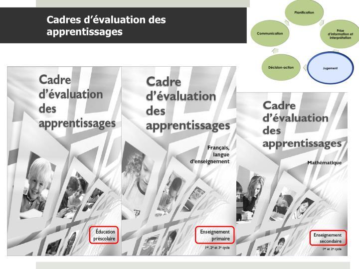 Cadres d'évaluation des apprentissages