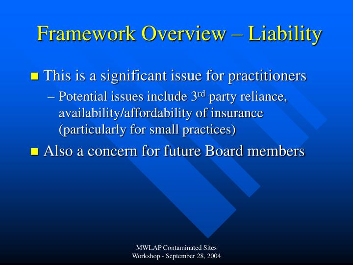 Framework Overview – Liability