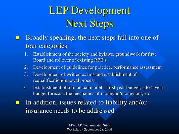 LEP Development