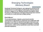 emerging technologies advisory board