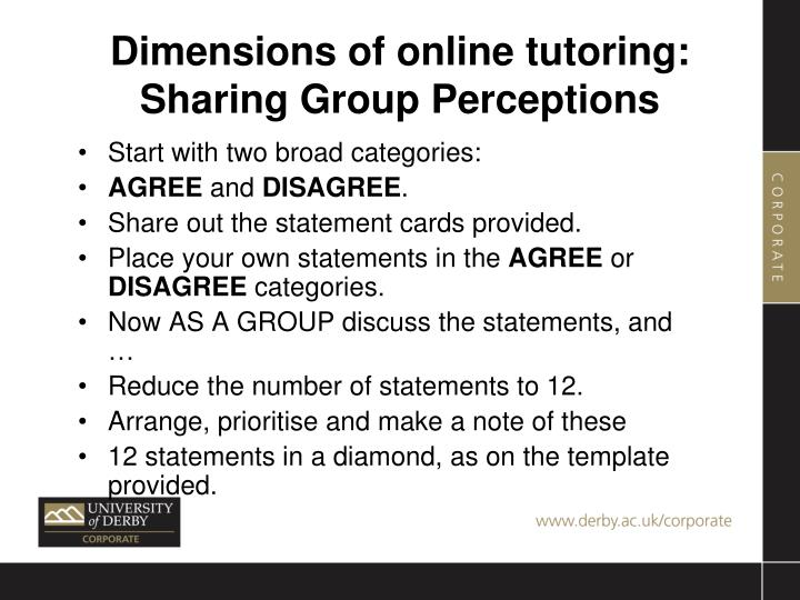 Dimensions of online tutoring