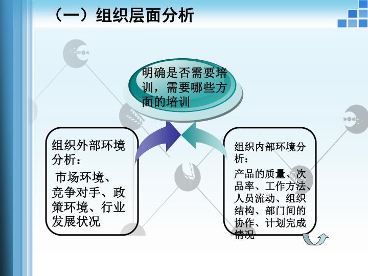 (一)组织层面分析