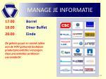 manage je informatie