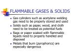 flammable gases solids
