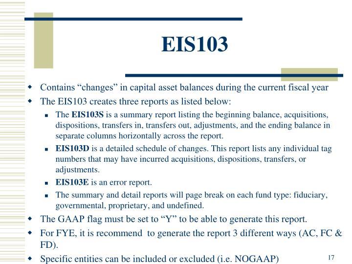 EIS103