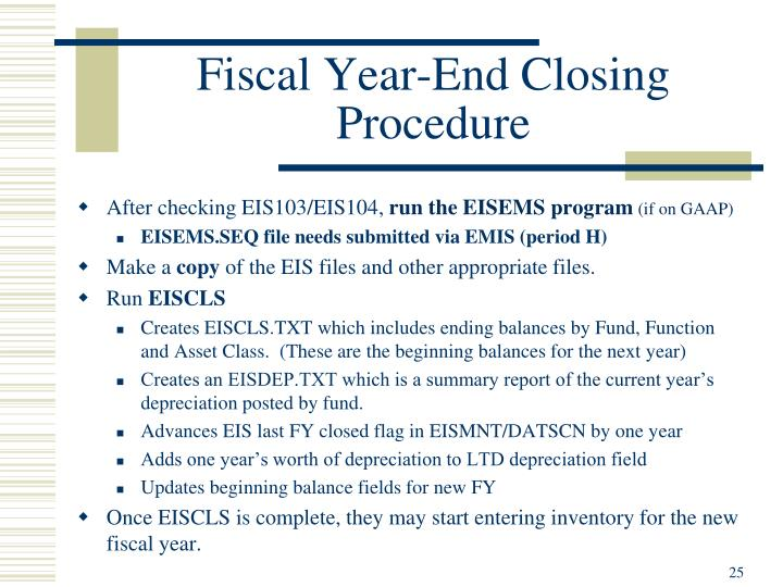 Fiscal Year-End Closing Procedure
