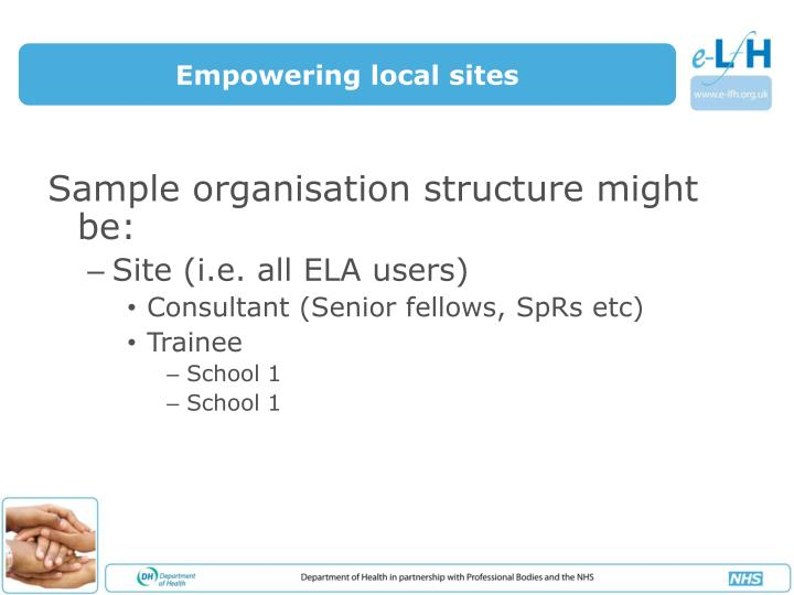 Empowering local sites