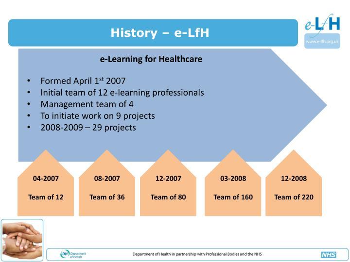 History – e-LfH