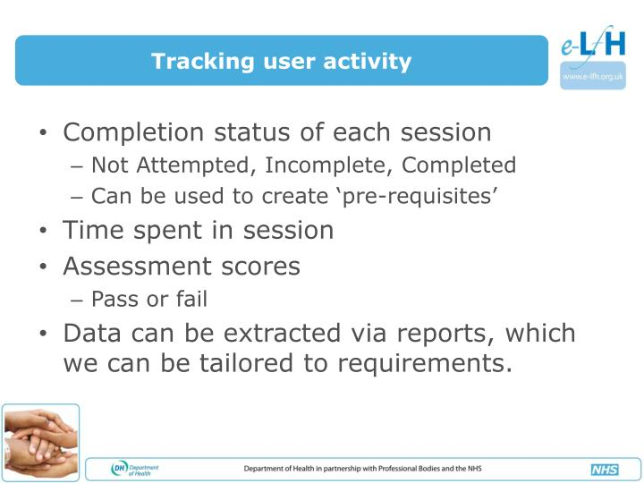 Tracking user activity