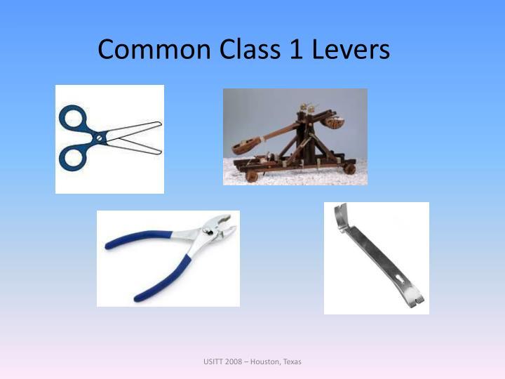 Common Class 1 Levers