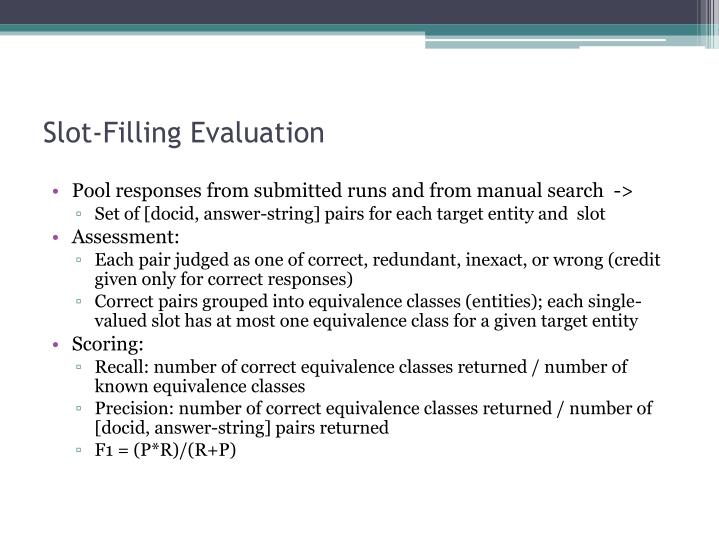 Slot-Filling Evaluation