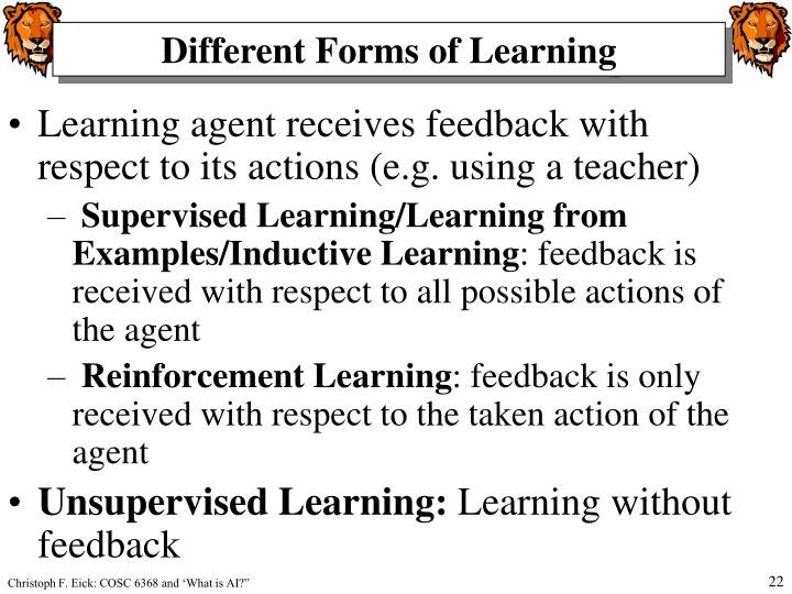 Different Forms of Learning