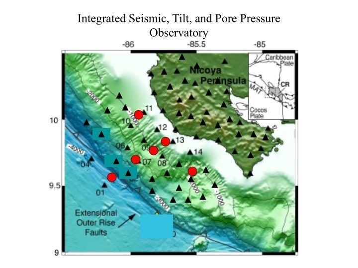 Integrated Seismic, Tilt, and Pore Pressure Observatory