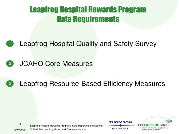 Leapfrog hospital rewards program data requirements