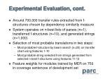 experimental evaluation cont